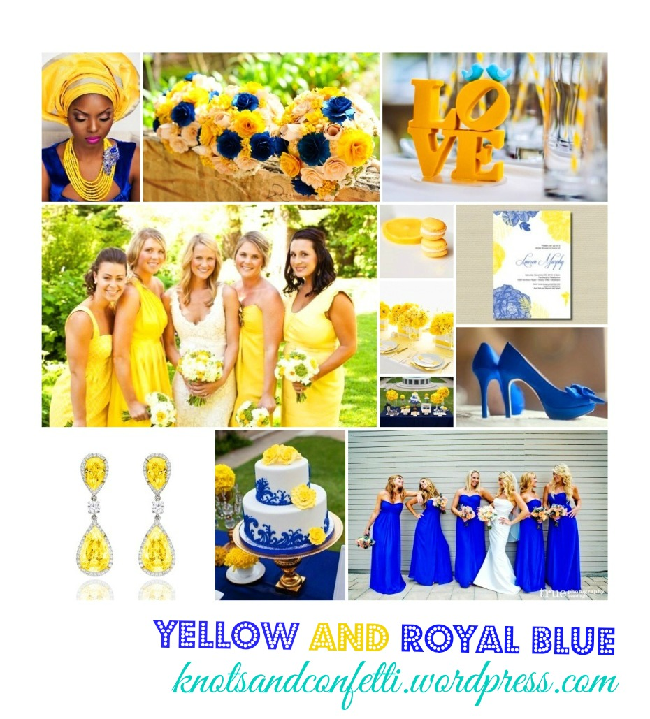 royal blue and canary yellow wedding cake throw a proper summer wedding with yellow and royal blue 19345