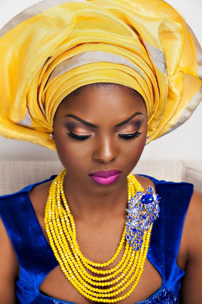 12 Gorgeous Nigerian Traditional Bridal Make-Up Looks ...